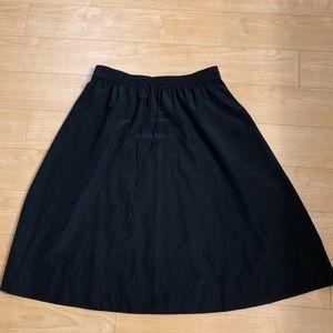 LOFT Skirts - Loft silky black drawstring midi skirt